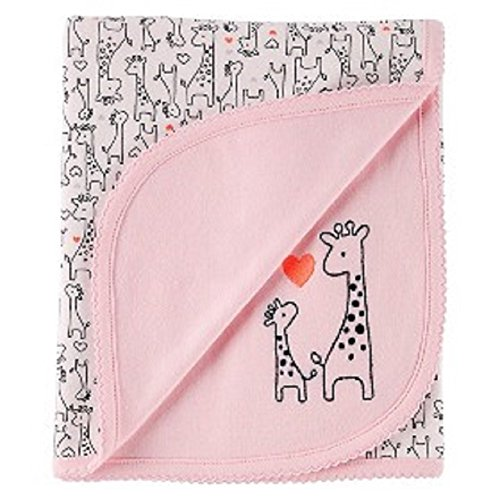 Baby Girls' Blanket Giraffe Pink