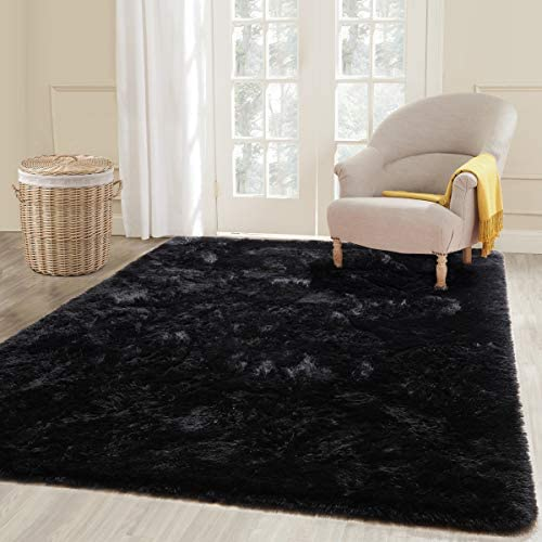 ECOBER Premium Velvet Fluffy Area Rug Plush Soft Carpet