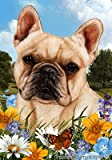 French Bulldog Cream – Best of Breed Summer Flowers Large Flags