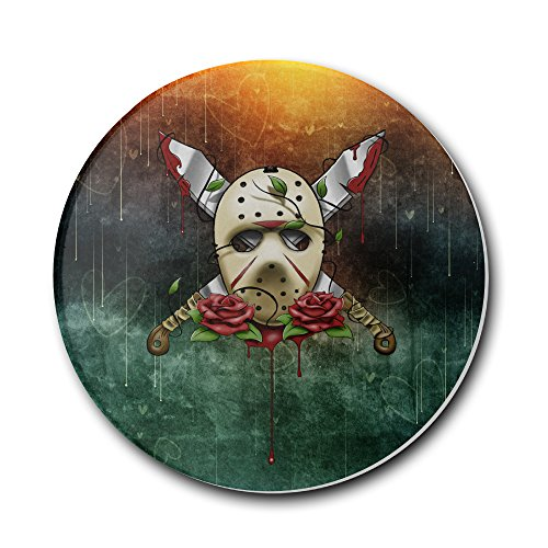 [ROBOTOAF Jason Voorhees's Anatomy Of A Murderer One Size Multifunctional Stoneware Coaster Set-Keep Furniture Safe From] (New Blood Jason Costume)
