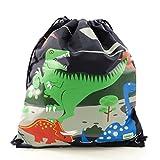 Bobble Art Kids Drawstring Backpack- Dinosaur
