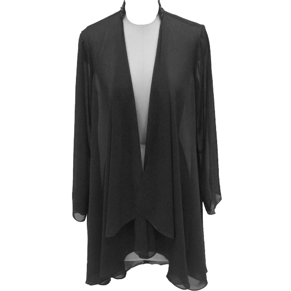 Vintage Coats & Jackets | Retro Coats and Jackets Flybridal Womens Chiffon Shawl Wrap Coats Open Front Cardigan Bolero Shrug Jackets with Beading $25.99 AT vintagedancer.com