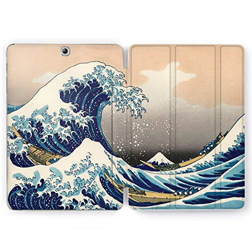 Wonder Wild Great Wave Samsung Galaxy Tab S4 S2 S3 A Smart Stand Case 2015 2016 2017 2018 Tablet Cover 8 9.6 9.7 10 10.1 10.5 Inch Clear Design Splash Kanagawa Painting Artist Famous Hokusai Ocean