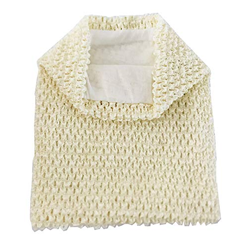 NNBX 9 Inch Crochet Tutu Tube Top Chest Wrap for Babies Infants and Toddlers (Ivory)