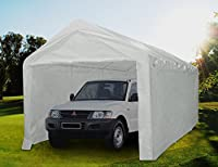 Quictent 20' x 10' Heavy Duty Carport Gazebo Canopy Garage Car Shelter White