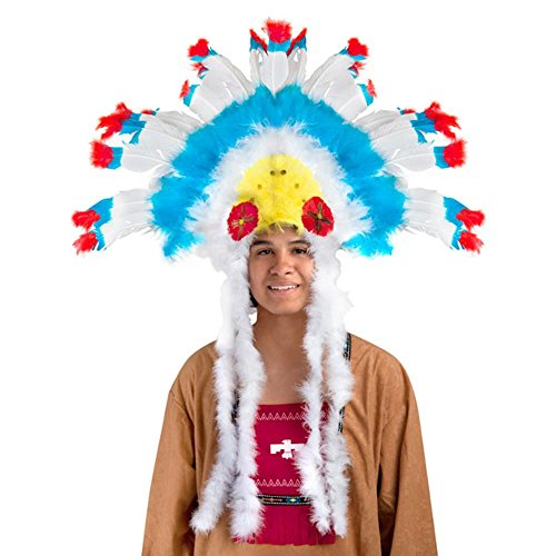Adult Indian Feather Head Dress For