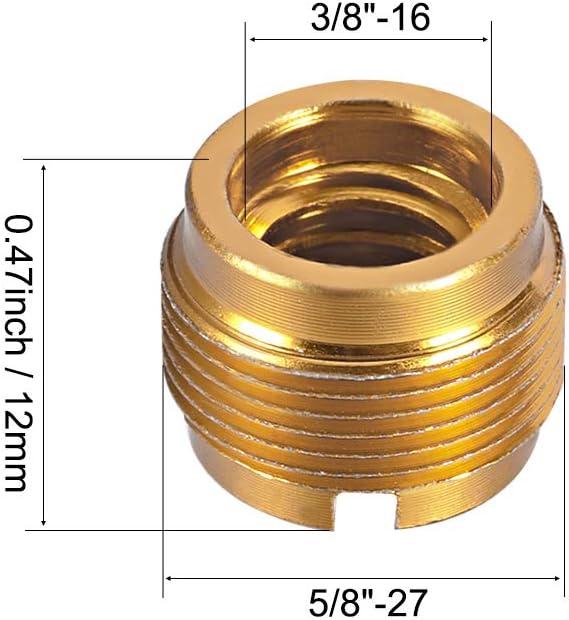 Sourcingmap Adaptateur filet/é 3//8 Femelle vers 5//8 m/âle en Aluminium pour Pied de Micro
