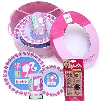 Barbie Dinnerware Collector\u0027s Gift Set For Kids - Barbie Avenue 3-piece BPA Free and  sc 1 st  Amazon.in & Buy Barbie Dinnerware Collector\u0027s Gift Set For Kids - Barbie Avenue ...