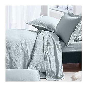 Bettwäsche 100 Leinen Gewaschen 1 Bettbezug 220 X 240 Cm 2