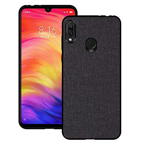 - Xiaomi Redmi Note 7 case, MYLBoo case, Redmi Note 7 with Fabric Back Cover All-Inclusive shatterproof Hard Shell Silicone Soft Side Box for Redmi Note 7 (Black)