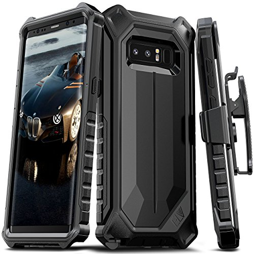Price comparison product image Galaxy Note 8 Case, ELV Samsung Galaxy Note 8 Holster Defender 360 degree Heavy Duty Armor Full Body Protective Hybrid with Belt Clip for Samsung Galaxy Note 8 (BLACK)