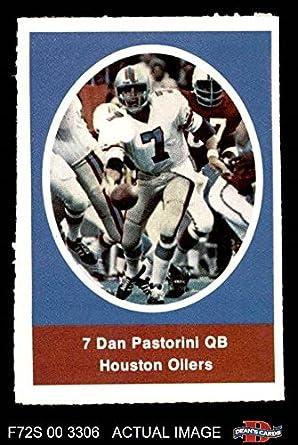 1972 Sunoco Stamps Dan Pastorini Houston Oilers (Football Card) Dean s  Cards 6 - EX 2b123711f