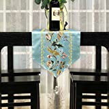 table runner european style restaurant maintenance chinese brocade embroidery table flag tea table runner long tv cabinet decoration cloth-A 32x260cm(13x102inch)