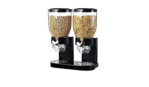 Contenedor para Dispensar Comida para Cereales y Alimentos Secos con Bandeja Integrada,con Dise/ño Antiderrames para Mantener Los Alimentos Frescos y Secos Adecuado para Almacenar Cereales