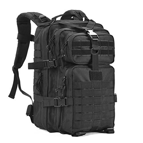 Military Tactical Backpack,Small Army Assault Pack Molle Bug Out Bag Backpacks Rucksack Daypack with Tactical US Flag Patch Black by GOWARA GEAR
