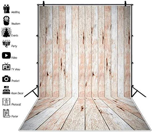 DORCEV 4x5ft Retro Texture Wood Wall Backdrop Baby Shower Birthday Party Photography Background Vintage Wooden Board Home Party Banner Decor Boy Girl Adult Portrait Photo Studio Props Wallpaper