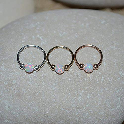 a48c54c20 White Opal NOSE RING//Gold Nose Piercing - Tragus Hoop - - Import ...