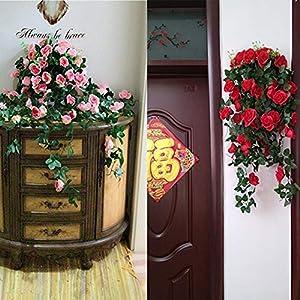 Forart Artificial Wisteria Long Hanging Bush Flowers Bougainvillea Hanging Basket Decorative Silk Plant for Home Wedding Decoration Arrangement 4