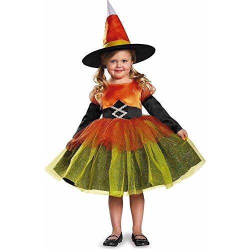 Candy Corn Witch Costume, Medium/3T-4T -