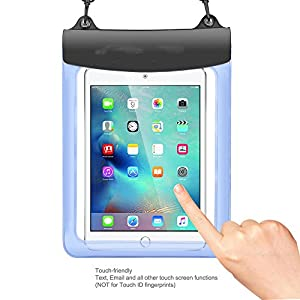 Premium Blue Waterproof Pouch Bag Case for iPad Pro 10.5 / Huawei Mediapad M3 Lite 10.1 / Lenovo Tab 4 10 Plus / New Yoga Tab 3 Pro 10 / Lenovo Miix 320 / Samsung Galaxy Tab S3 / Galaxy Book 10.6