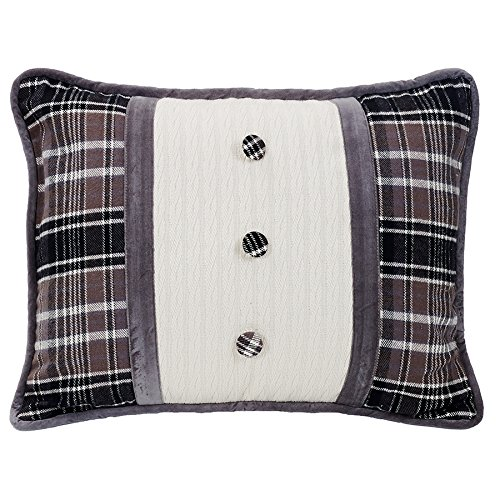 HiEnd Accents Whistler Buttoned Oblong Pillow