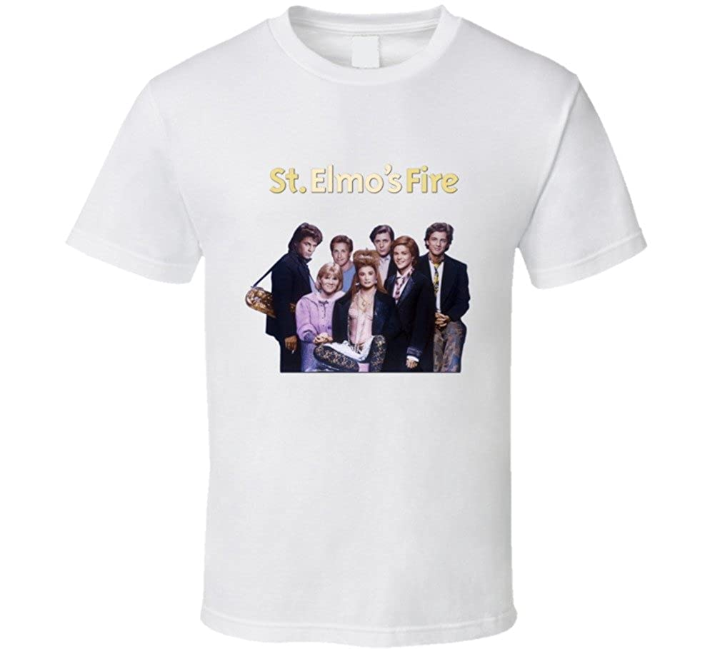 95c161189 The Village T Shirt Shop ST elmo's Fire Retro 80's Movie T Shirt |  Amazon.com