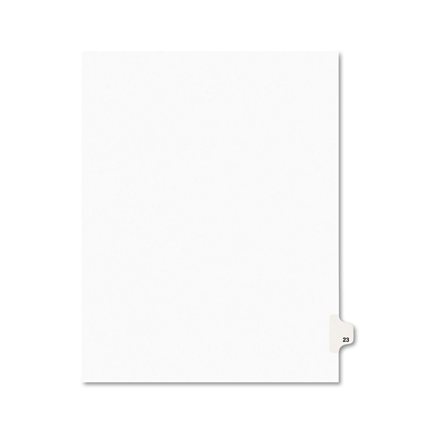 Avery 01023 Avery-Style Legal Exhibit Side Tab Divider, Title: 23, Letter, White, 25/Pack AVERY-DENNISON