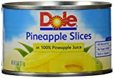 Dole Pineapple Slices, in its Own Juice, 8 oz