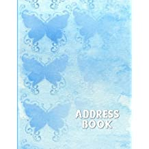 Address Book: Large Print - Blue Butterflies