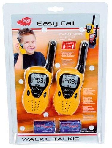 Dickie - 18173 - Walkie Talkie Easy Call - Portée 80 m - Lot de 2 - 16 cm - assorti Simba Dickie Group 965111-8176