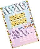 Party Stuff Karwachauth Theme Tambola Housie Tickets - Karwachauth Songs Grid 2 in 1 kukuba-1 - Simple Strike kukuba (8 Cards) | Kitty Games