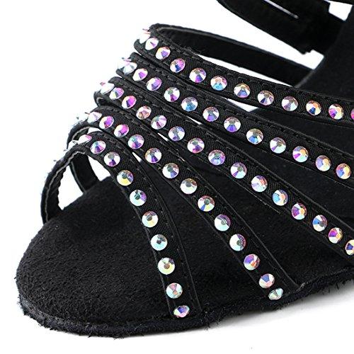 Zapatillas 5cm 7 Black Miyoopark Heel Mujer Para HW180303 Danza de MiyooparkUK Tz6fn