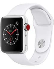 AppleWatch Series3 (GPS+Cellular, 38mm) - Silver Aluminium Case with White Sport Band