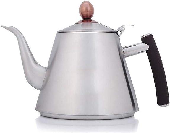 Met Love Cafetera 304 Acero Inoxidable Calentador de Agua Cocina de inducción Especial Espesada de Fondo Plano Tetera 1L: Amazon.es: Hogar