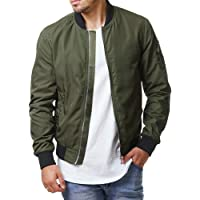 6315d87cf101 Pengfei Mens Jackets Bomber Varsity Diamond Quilted Spring Coats Outwear
