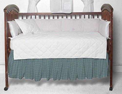 (Patch Magic Blue Aqua and Pink Plaid Fabric Dust Ruffle Crib)