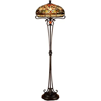 Dale Tiffany Tf50012 Sir Henry Floor Lamp Antique Brass