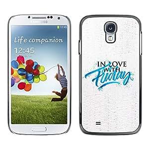 Paccase / SLIM PC / Aliminium Casa Carcasa Funda Case Cover - Love Quote Motivational Slogan - Samsung Galaxy S4 I9500