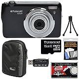 Polaroid iEX29 18MP 10x Digital Camera (Black) with 16GB Card + Case + Reader + Mini Tripod + Kit
