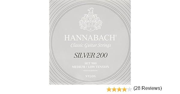 Hannabach 652657.0 - Cuerdas para guitarra clásica: Amazon.es ...