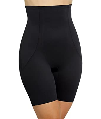 c5d5aa450619 Miraclesuit Shapewear Back Magic High Waist Thigh Slimmer, Black L (Women's  12-14