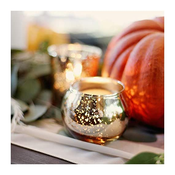 """Just Artifacts Round Mercury Glass Votive Candle Holders 2-Inch Speckled Gold (Set of 12) - Mercury Glass Votive Candle Holders for Weddings and Home Décor - Just Artifacts Round Mercury Glass Votive Candle Holders 2""""H Speckled Gold (Set of 12) - Mercury Glass Votive Candle Holders for Weddings and Home Décor WEDDINGS, PARTIES & HOME DECOR: Mercury glass votive candle holders are the perfect touch to add glow and elegance to your event and/or home. Each votive is embellished with an antique finish. For safety precautions we recommend that you use a LED tealight candle with the votive; however, regular wax tealight candles can be used with the candle holders. DIMENSIONS: Approximately 2.75"""" diameter and 2"""" height - living-room-decor, living-room, home-decor - 51yllSkadHL. SS570  -"""