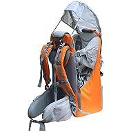 New Baby Toddler Hiking Backpack Carrier Stand Child Kid Sunshade Visor Shield Shield (orange)