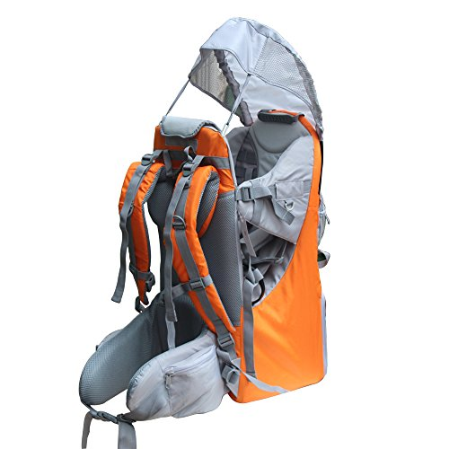 New Baby Toddler Hiking Backpack Carrier Stand Child Kid Sunshade Visor Shield Shield (orange) by TeckCool_Store