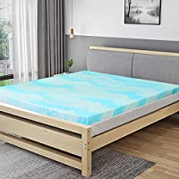 Mattress Topper, 2 Inch Gel Memory Foam Mattress Topper Twin with CertiPUR-US Certified - Twin Size