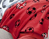 Catherine Lansfield Kids Football Throw - Red