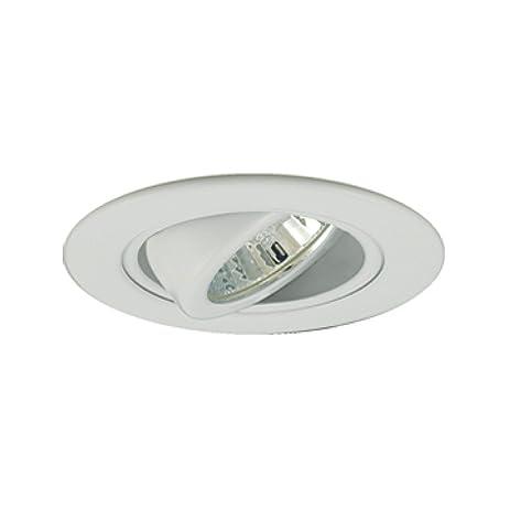 Jesco lighting tm308wh 3 inch aperture low voltage trim recessed light adjustable gimbal ring