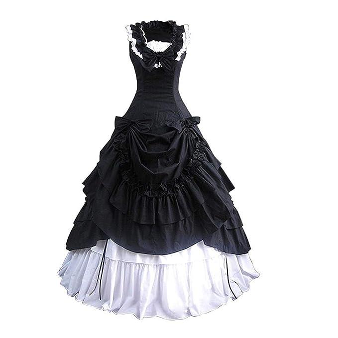 Amazon.com: Loli Miss vestido de mujer sin mangas con lazo ...