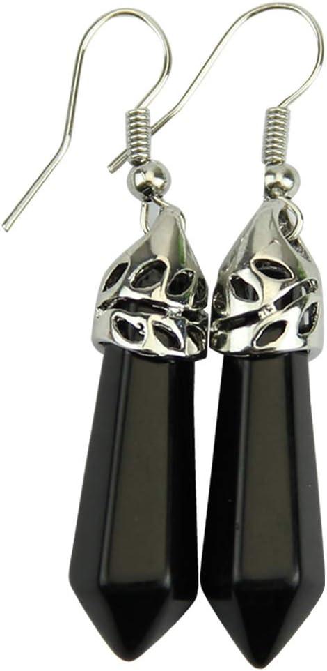 siwetg - Pendientes de Perlas de Piedras Preciosas Elegantes para Mujer