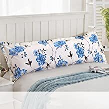 Couple cotton pillowcase pillowslips lengthened pillow core sleeve double pillow sets-U 48x150cm(19x59inch)